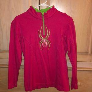 Pink and Green Spyder Half Zip